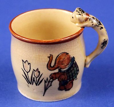 Vintage Childs Children CAT Mug -Cat as Handle -Made in Japan -Free Shipping!