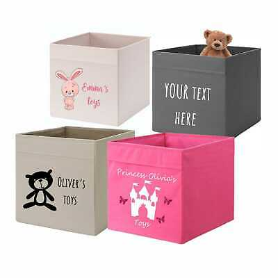 Personalised Kids Toys Storage Box To Fit Ikea Kallax Pink Yellow Girls Any Name