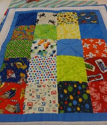 Boys' complete playmat/cot quilt kit -100% American quilting Cotton