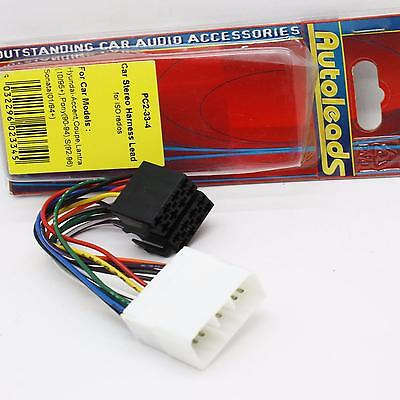 Autoleads PC2-33-4 Hyundai car stereo ISO wiring harness adaptor leads Coupe etc