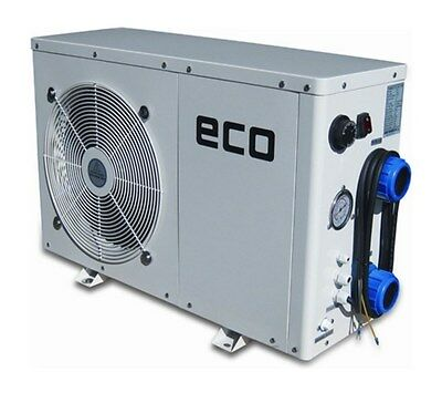 ECO Heating pump Typ3, 5, 8, 10, 12 Swimming pool Poolheizung Heater +Bypass