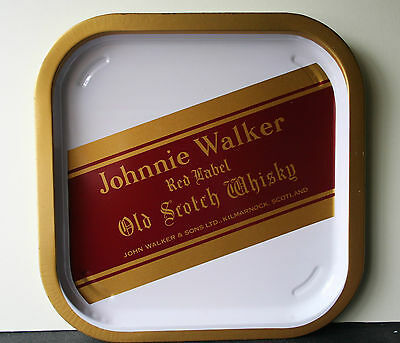 JOHNNIE WALKER Vintage Advertising Pub Bar Beer tray Retro