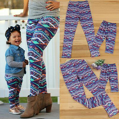 Mother Daughter Mom Girls Baby Stretchy Pants Family Matching Leggings Trousers