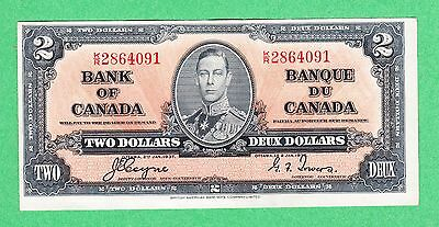 1937 Bank of Canada - $2 Coyne Towers Bank Note - K/R 2864091 - AU