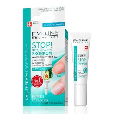 EVELINE Professional Cuticle Remover with Avocado Oil - Gel - New - 12ml