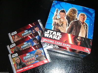Topps Force Attax - BOX 50 x sachet - 250 of cards STAR WARS EXTRA NEW BOX