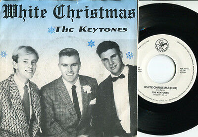 KEYTONES - White Christmas / Only For You 45 UK 1987 ROCKABILLY RARE 87 DUTCH PS