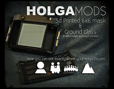 3D Printed HOLGAmods Collodion Back Kit with Ground Glass Focusing Aid for HOLGA