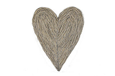 Large Wall Hanging Wicker Heart New Shabby Country Chic