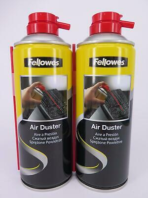 2 x Fellowes Air Duster 350ml for Notebook Laptop PC Keyboard Cleaner 9974905