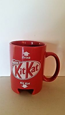 Rare Nestle KitKat Red Cup Mug w/Cut Out Slot