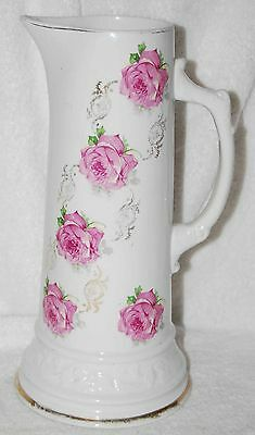 Antique Porcelain Tankard With Roses