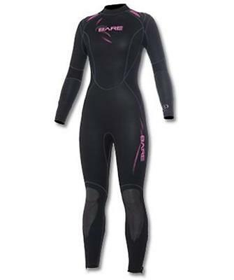 New 5Mm Bare Womens Sport Full Scuba Diving Wetsuit Size 18 Pink Black Dive