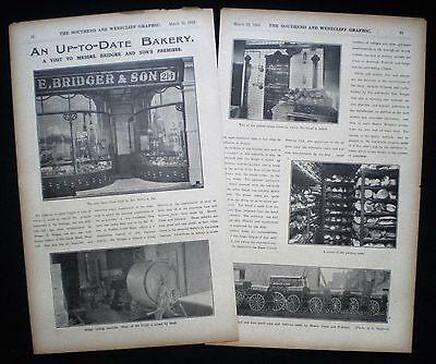 E. BRIDGER & SON BAKER BAKERY LEIGH ROAD WESTCLIFF-ON-SEA ESSEX 2pp ARTICLE 1912