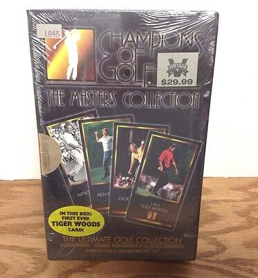 Tiger Woods 1997 Grand Slam Ventures Champions of Golf ROOKIE FACTORY SET BOX