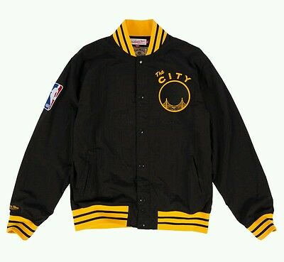 Authentic NBA Mitchell   Ness Golden State Warriors Vintage warm-up Jacket fbad46f0a