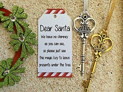 Santa Magic Key Christmas Ornament Christmas Eve Door Chimney