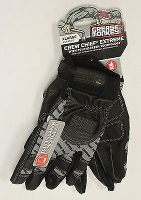 NEW  Grease Monkey Crew Chief Extreme Touchscreen Gloves XL XLarge 22704