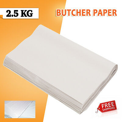 100 Sheets Butchers Wrapping Sheet 2.5kg 600 x 840 White FOOD GRADE SAME DAY DIS