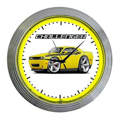 2010-15 Dodge Challenger RT Muscle Car Classic Neon Clock NEW