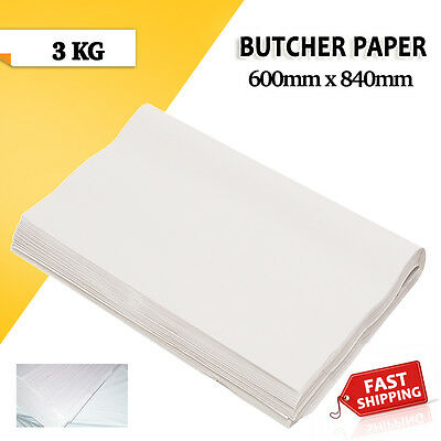Butchers White Packing Paper 3kg 600 x 840mm 150 Sheets Agrade Free Shipping!