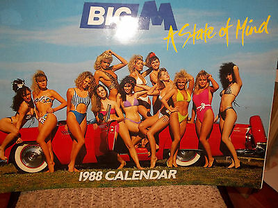 'BIG M' Flavoured Milk CALENDAR VFU L%$K 1988