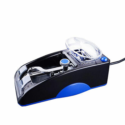 Blue Electric Automatic Cigarette Injector Roll Machine Tobacco Maker Roller New