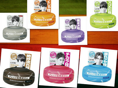 NEW Gatsby Moving Rubber Hair Wax clay 80g ship from Japan