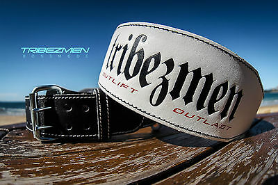 Tribezmen Bossmode Leather Embossed Weight Lifting Belt Bodybuilding Gym