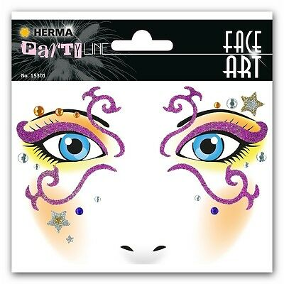 """Face Art Sticker """"Mystery"""" HERMA Party Line 15301"""