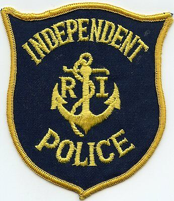 old vintage INDEPENDENT RHODE ISLAND RI POLICE PATCH