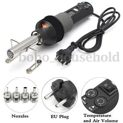 220V 450W 450℃ Portable LCD Soldering Hot Air Heat Gun Desolder with 4 Nozzles