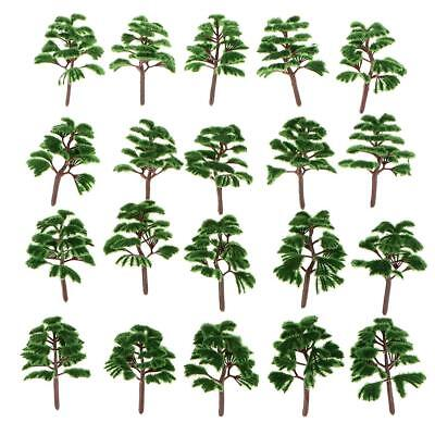 20pcs Railway Train Model Trees 1:200 Z Scale Guage Dark Green Trees Layout