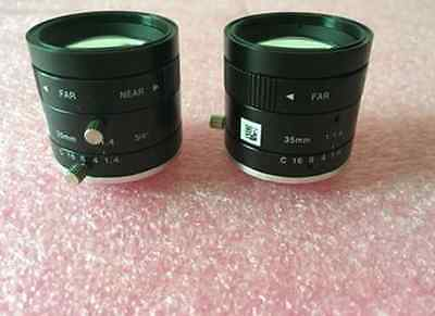 1PC used VST 35MM 1: 1.4 3/4 industrial CCD camera lens #WM06
