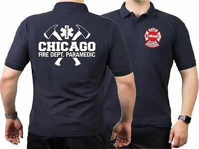 Polo navy, Chicago Fire Department mit Äxten, Paramedic
