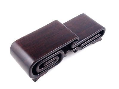 Hard Wood Crafted 2 Tiers High Low Display Stand Netsuke Snuff Bottles Figurine