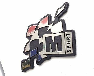 M-Sport World Rally Team Plastic Chrome Effect Adhesive Badge