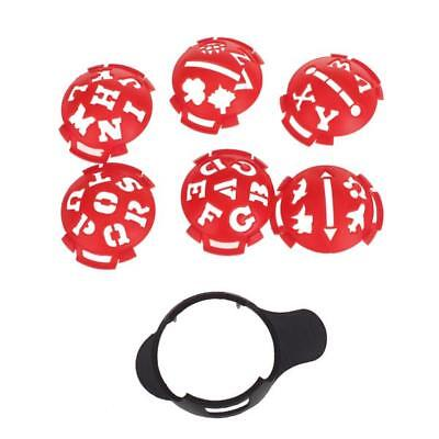 Multi-template Golf Ball Line Liner Marker Template Drawing Alignment Tool