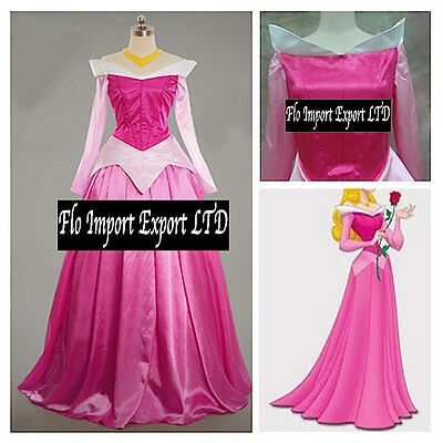 Aurora Vestito Carnevale Donna Dress up Sleeping Beauty Woman Costume AURW01