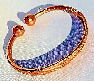 MAGNETIC Pure copper AZTEC TORQUE Bracelet Bangle Healing Relief Arthritis M3