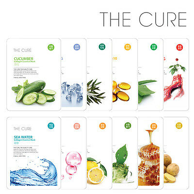 BUY 5 GET 1 FREE [THE CURE] Collagen Essence Moisturizing Facial Mask 1pc NEW