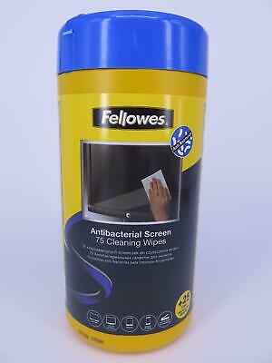 Fellowes 100 x Antibacterial Screen Cleaning Wipes Laptop Tablet PC 2211716