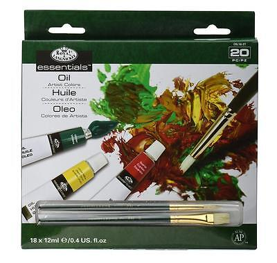 Royal Langnickel Oil Colour 18 x 12ml Paint Tube Box Set. Assorted Colours