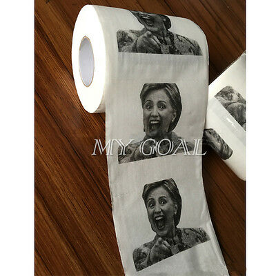 Hillary Clinton Toilet Paper Tissue Roll Presidential Novelty Funny Gag Gift Hot