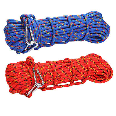 3KN 10mm Outdoor Rock Tree Climbing Escape Rescue Auxiliary Rope Rappelling Gear