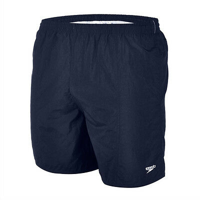 Speedo Solid Leisure Boys Swimming Shorts Navy 15 inch Length Leg