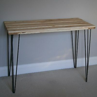 Recycled Pallet Industrial Solid Wood Shabby Chic Rustic Table with Hairpin Legs