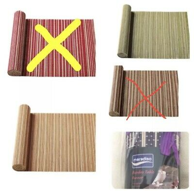 Meradiso Bamboo Table Runner 40x 150cm,4 Colour Available