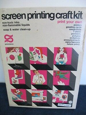Screen Printing Craft Kit Speedball #4501 Never Used