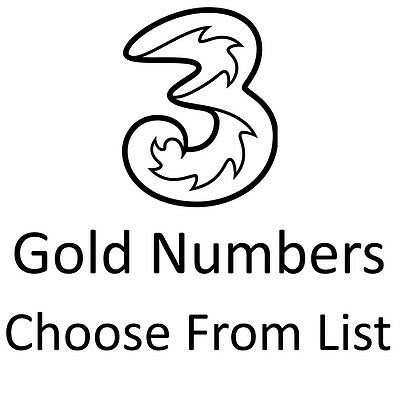 Gold Vip Business Easy Mobile Phone Number Diamond Platinum Sim Card Three